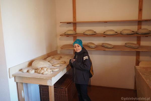 Muzeum chleba mieści się na dolnej kondygnacji młyna.