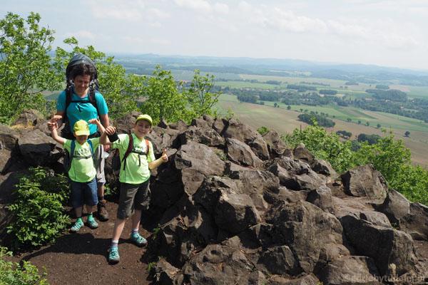 Hura, dotarliśmy na szczyt! 501 m n.p.m.