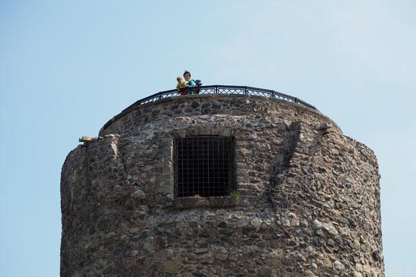 Dzielny Grześ wszedł na wieżę!
