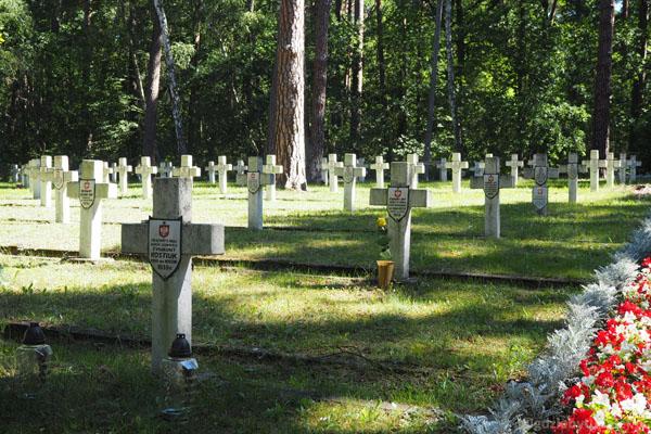 Pochowano tu kilkuset żołnierzy biorących udział w II wojnie światowej
