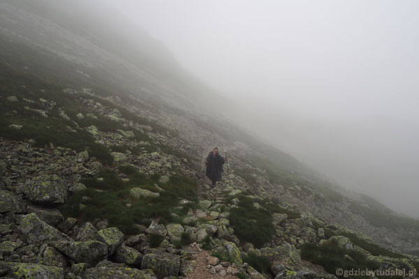 Podejście na Jamnicką Przełęcz.