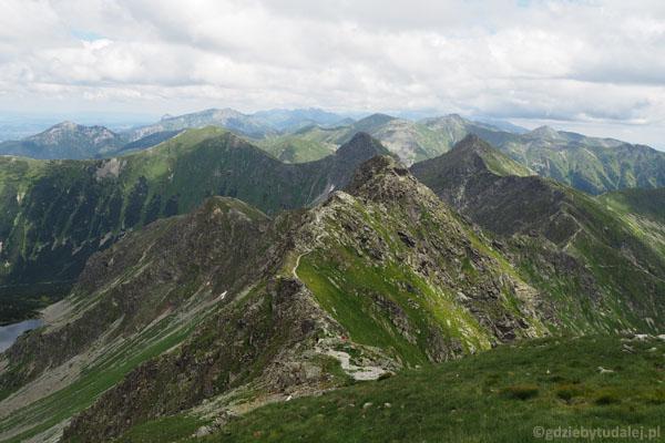 Widok z Hrubej Kopy w kierunku wschodnim.
