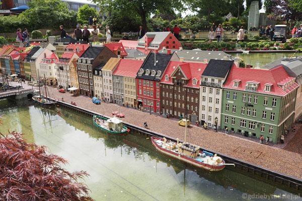 Kopenhaski Nyhavn zbudowany z lego