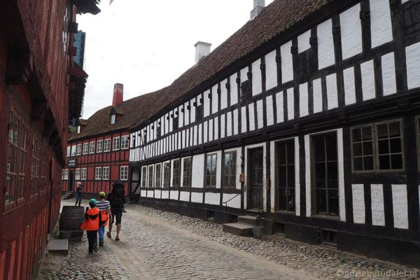 Zabytkowe domy poprzenoszono tu z różnych miejsc w Danii
