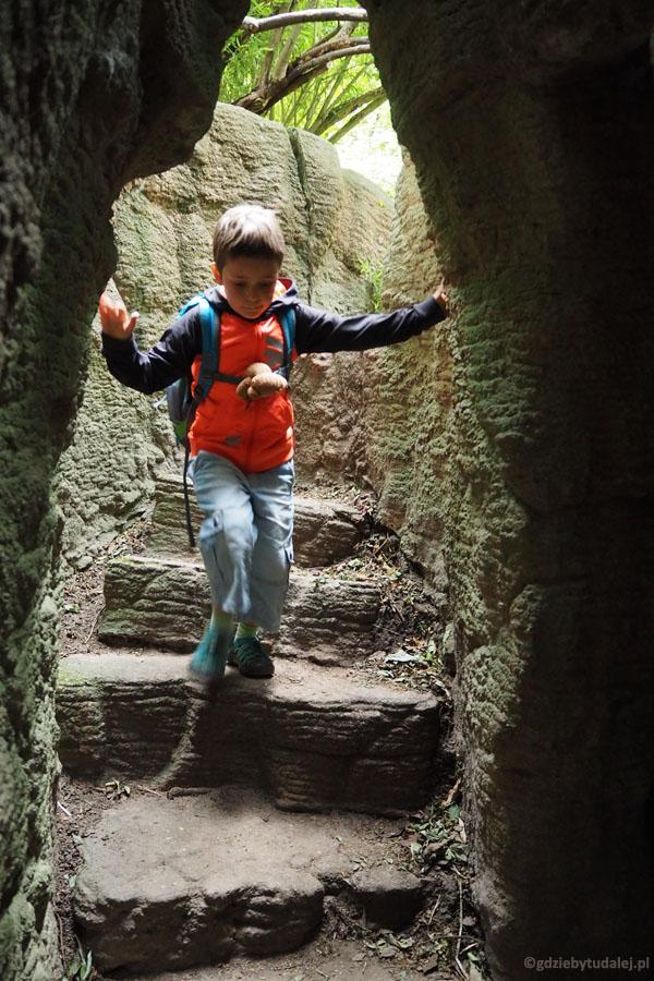 W jaskiniach urządzono specjalnie przystosowane ścieżki