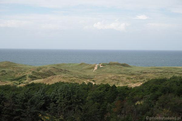 Widok na Morze Północne z latarni Lodbjerg