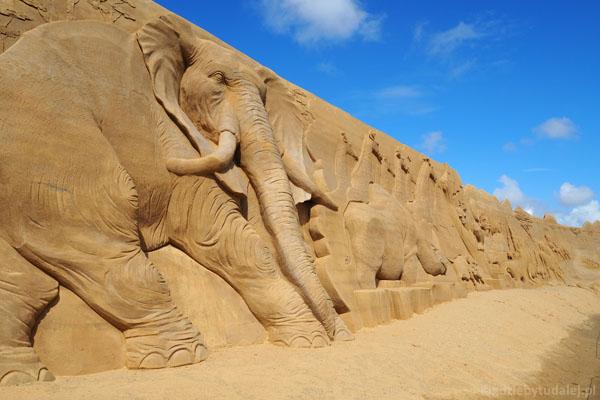 Międzynarodowy festiwal rzeźby z piasku w Søndervig