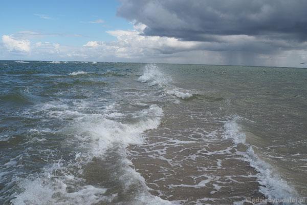 Kolor Morza Północnego (po lewej) wyraźnie inny niż Bałtyku