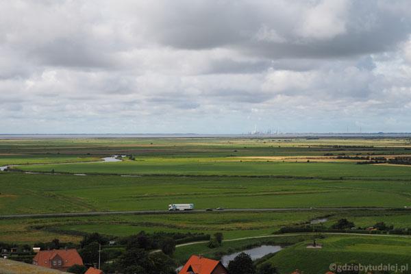W oddali widać też wyspę Mandø - tam zaraz będziemy jechali