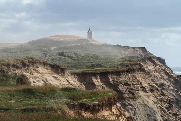 Latarnia Rubjerg Knude już nie działa, zasypana przez piaski.
