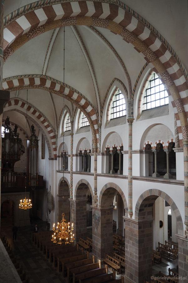 Wnętrze katedry w Ribe