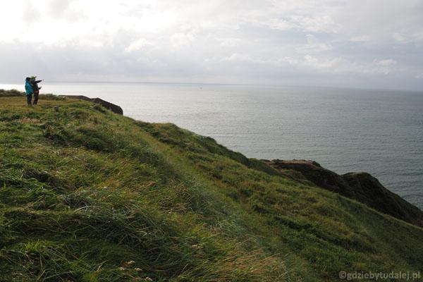 Widok z klifu w kierunku zachodnim