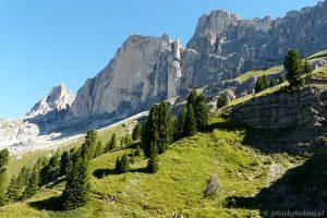 Przed nami Roda di Vaél, idziemy na przełęcz Vaiolon.