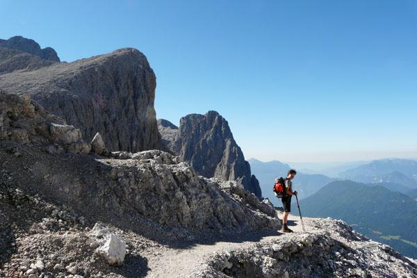 Ruszamy w stronę przełęczy Passo di Ball.