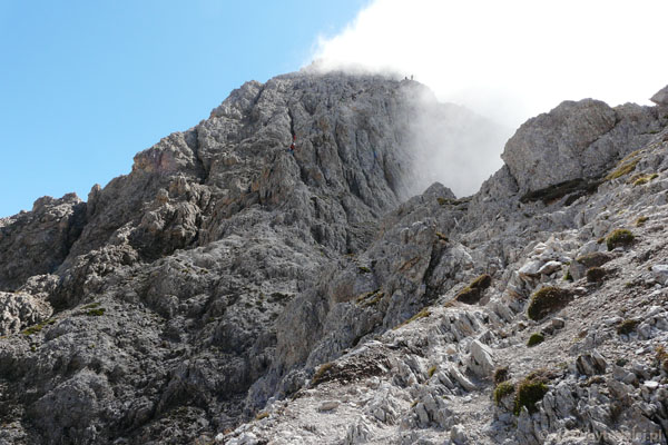 Przed nami szczyt Roda di Vaél.
