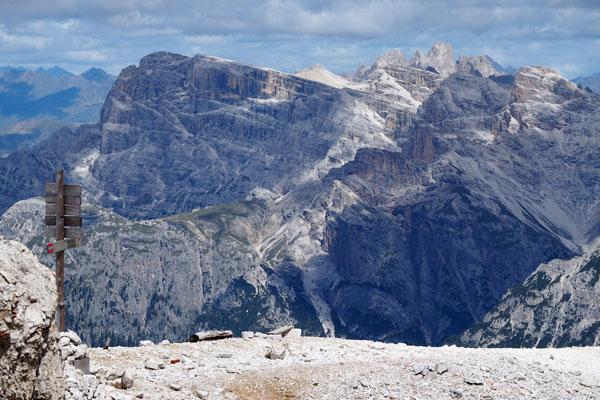 Widok z przełęczy Forcella Grande.