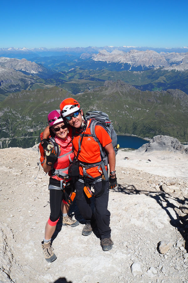 Hura! Na szczycie Marmolady (3343 m n.p.m.)