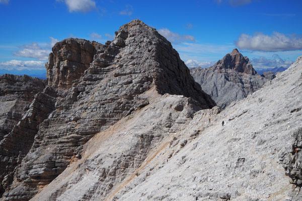 Przed nami szczyt Vecchio del Forame.