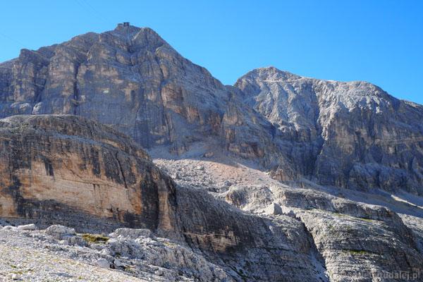 Ostatni rzut oka na oba dzisiejsze szczyty - Tofany di Mezzo oraz di Dentro.