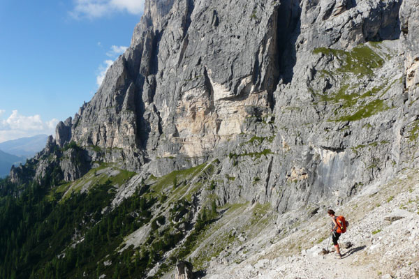 Szlak sprowadzający do San Martino di Castrozza.