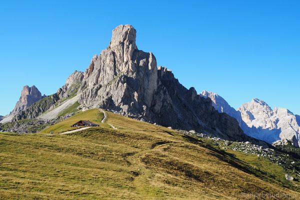 Ra Gusella z Passo Giau - jedna z wizytówek Dolomitów.