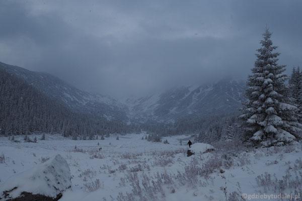 Można też stąd spojrzeć w stronę Przełęczy pod Kopą Kondracką.