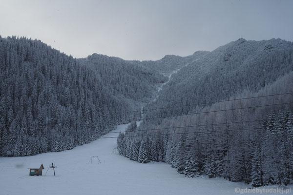 Suchy Żleb ma długie tradycje narciarskie.
