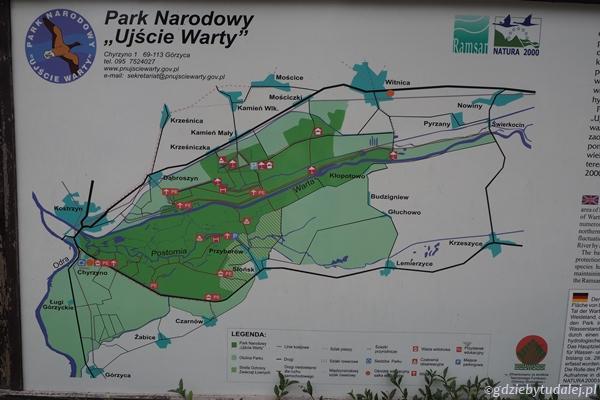 Przed budynkiem znajdziecie mapę parku.